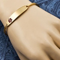Lesly Gold Medical Bangle Bracelets inset 2