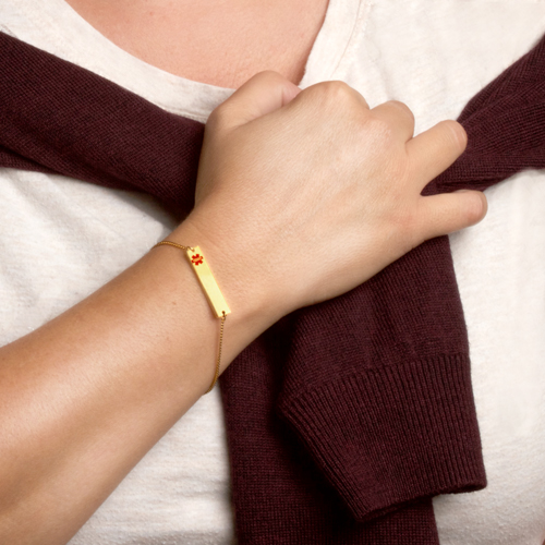 Adjustable Gold Bar Medical ID Bracelet inset 1