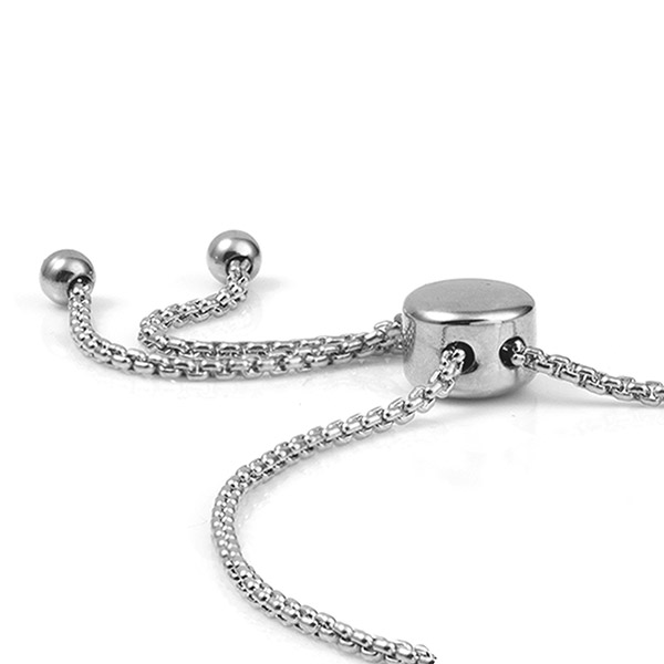 Stainless Bolo Medical Alert Bracelet for Women inset 1