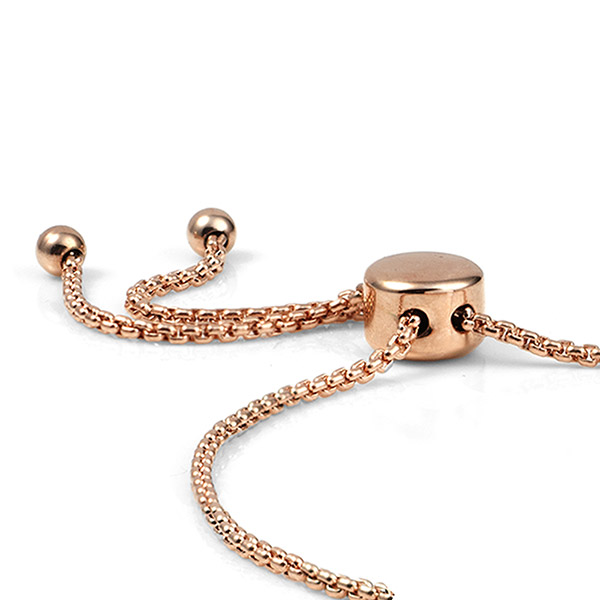 Rose Gold Bolo Medical Bracelet for Her inset 1