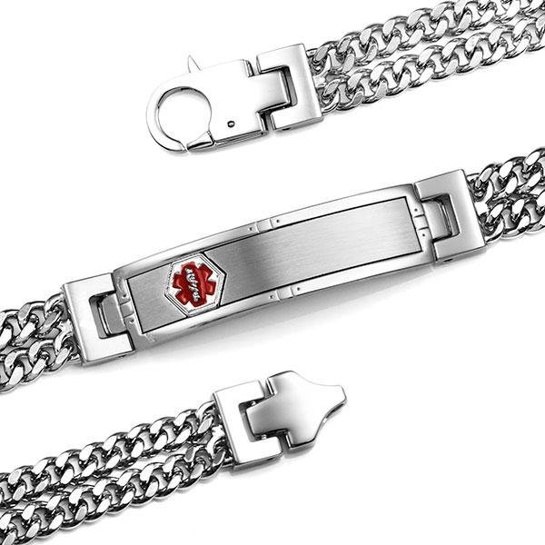 Cason Multi Chain Medical Alert Bracelet inset 1