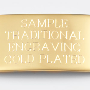Gold Plated ID Tag for Custom Bracelets inset 1