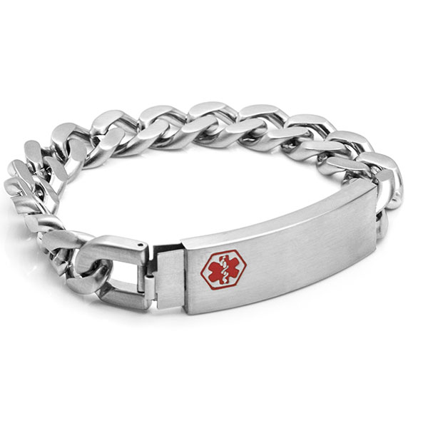 Astra Engravable Medical Bracelet for Men inset 1