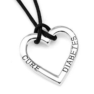 Cure Diabetes Heart Shaped Diabetic Jewelry Necklace  inset 1