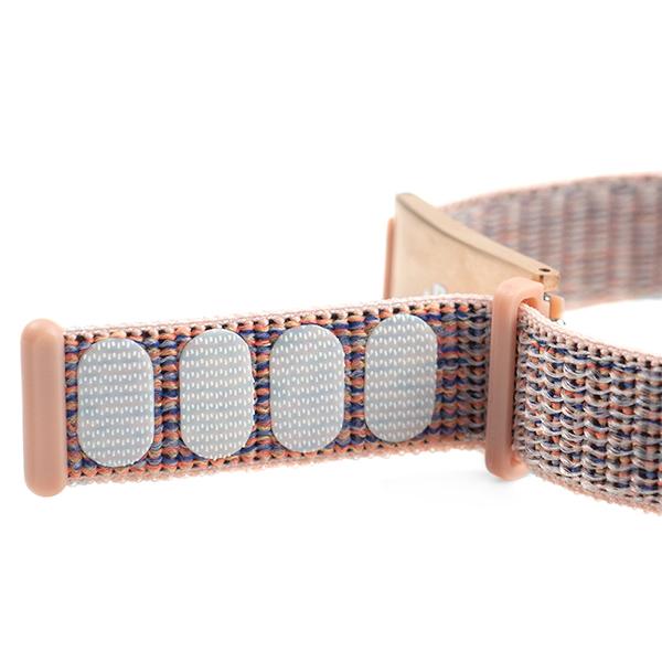 Pink Fabric Adjustable Medical Alert Bracelet inset 1
