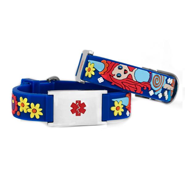 Princess Medical ID Bracelet for Girls inset 1