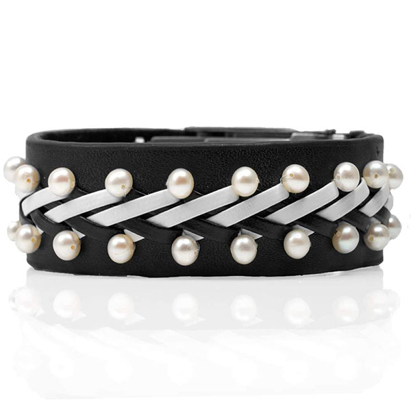 Rock Star Pearl & Leather Medical ID Bracelets inset 2