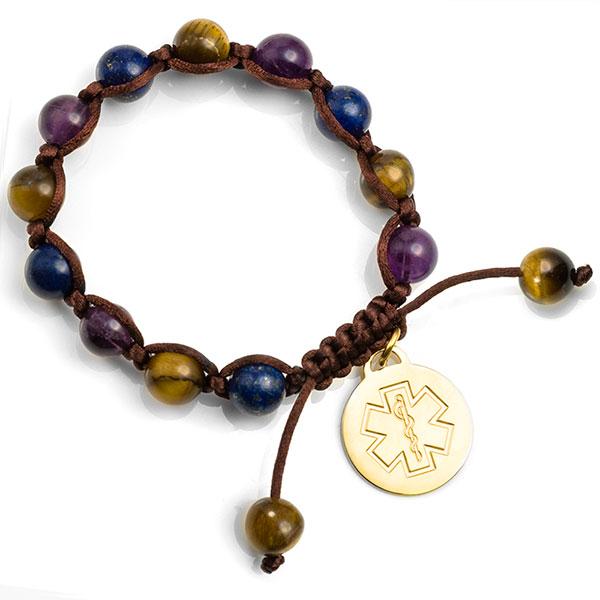 Jenna Beaded Macrame Medical ID Bracelet inset 1