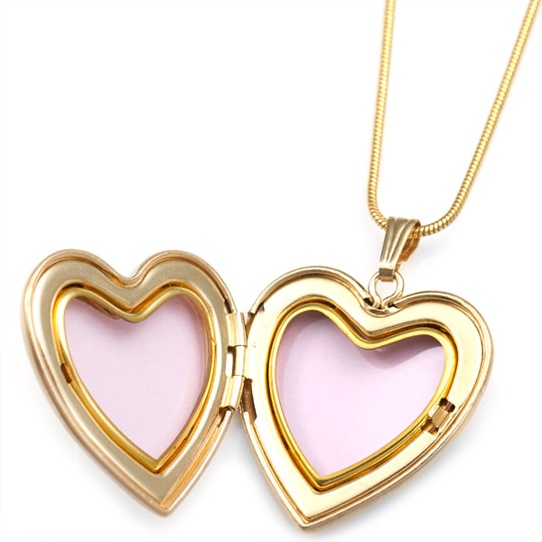 Brave Dove Gold 1st Communion Personalized Locket inset 1
