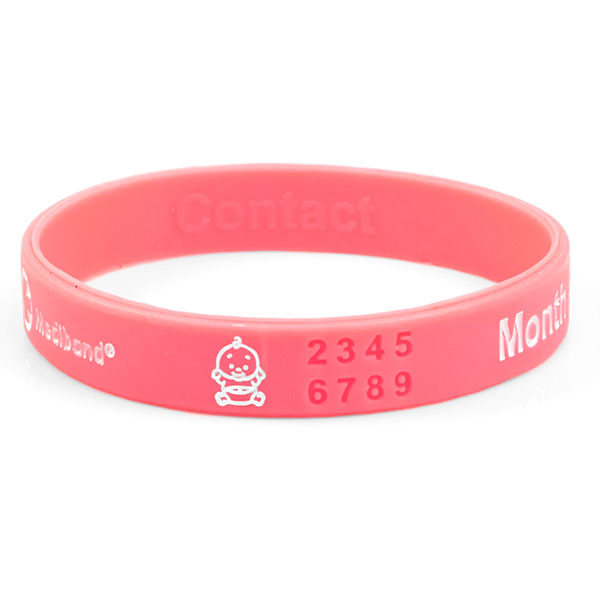 Mediband - Pink Pregnancy Write on - Large  inset 1