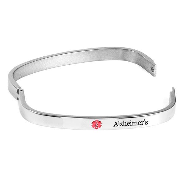 Bangle Style Alzheimers Bracelet  inset 1