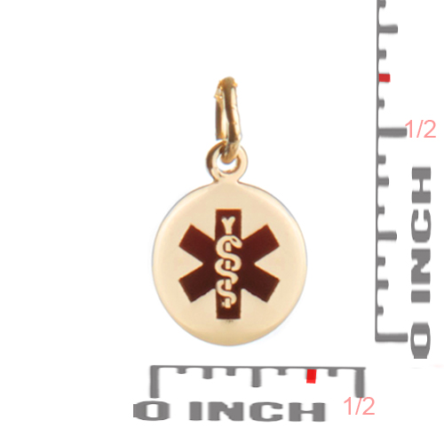 14k Gold Petite Medical ID Necklaces for Women inset 2