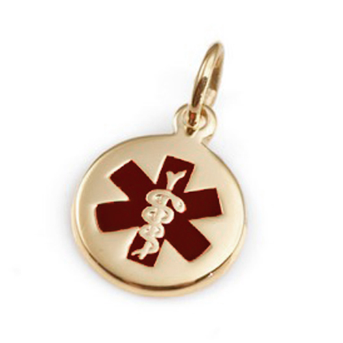 14k Gold Petite Medical ID Necklaces for Women inset 1