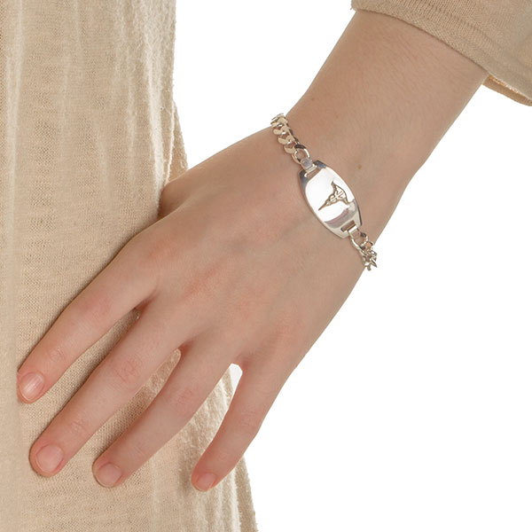 Eryn Sterling Silver Medical ID Bracelets inset 2