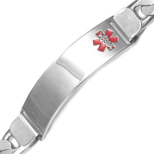 Byron Anchor Link Sterling Silver Medical Bracelet inset 1