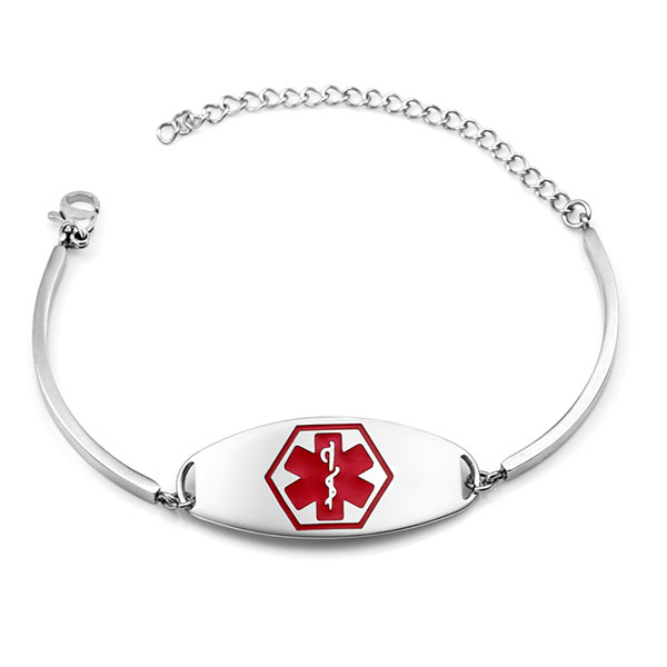 Reba Steel Adjustable Emergency ID Bracelet inset 1