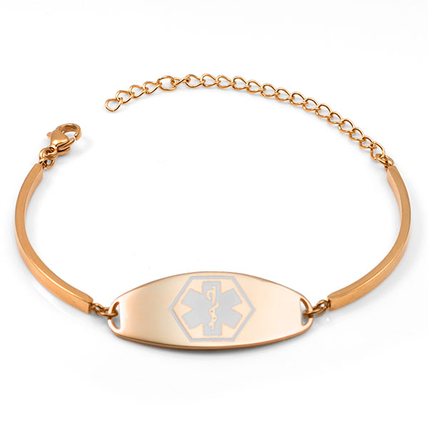 Rebecca Rose Gold Medical Bracelets for Women inset 1