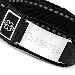 Black Engravable Sportstrap Medical Alert Bracelet  inset 1