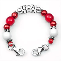 UA School Colors Womens Beaded Bracelet  inset 2