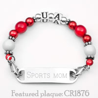 UA School Colors Womens Beaded Bracelet  inset 1
