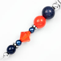 Auburn School Colors Womens Beaded Bracelet  inset 1
