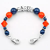 Auburn School Colors Womens Beaded Bracelet  inset 2