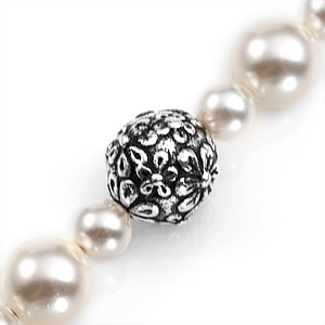 Floral Pearl Beaded Medical Alert Bracelets for Women Strap inset 1