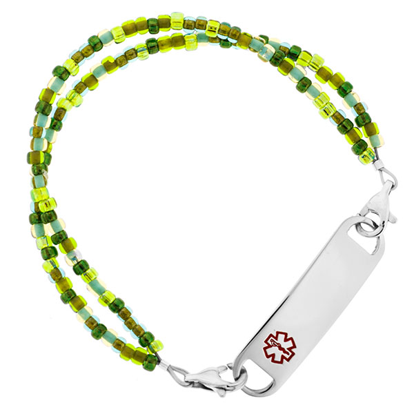 Emerald Isle Beaded Medical Alert Bracelets for ID Tags inset 2