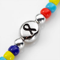 Autism Awareness Ribbon Beaded Autism Bracelet 5 - 6 In (No Tag) inset 1