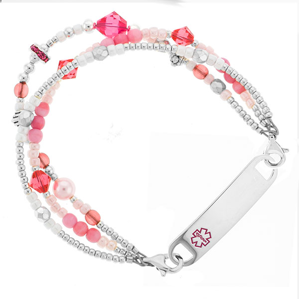Candy Shop Triple Strand Beaded Medical Bracelets 5 In (No Tag) inset 1