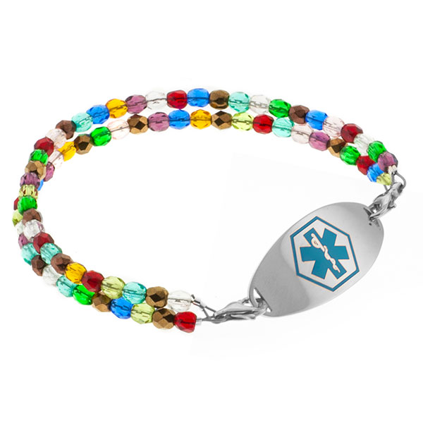 Dream Of Color Beaded Medical Alert Bracelet for ID Tags inset 3