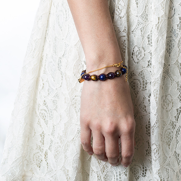 Jenna Beaded Macrame Medical ID Bracelet inset 2