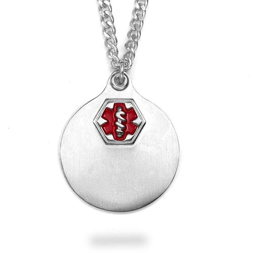 Medium Stainless Double Pendants Medical ID Necklace inset 1