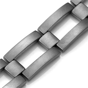 Medical Alert Brushed Titanium Mens Bracelet 9 Inch inset 1