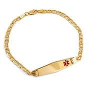 14k Gold Diamond Shaped Anchor Medical Bracelet