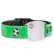 Soccer Medical Sport Band Bracelet for Boys or Girls 4 - 8 Inch