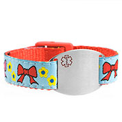 Childrens Bows Medical Alert Bracelets