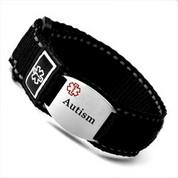 Black Sport Strap Autism Bracelet