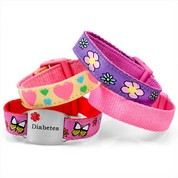 Girls Sports Strap Set with Diabetes Tag
