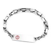 Dana Square Link Medical ID Bracelets Size 8.5