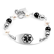 Engravable Charms Medical Alert Bracelet