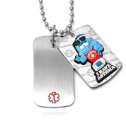 Puffer I Have Asthma Kids Medical Alert Necklace