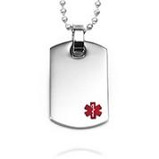 Engravable Medical Dog Tag Necklace