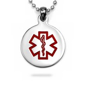 Round Medical Stainless Pendant Medium