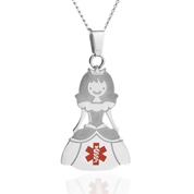 Princess Medical Alert Stainless Necklace