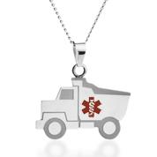 Dump Truck Child ID Necklace
