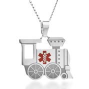Locomotive Train Medical Stainless Necklace