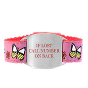Butterflies Safety ID Bracelet