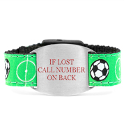 Soccer Star Safety Bracelet for Children Fits 4 - 8 In Arms