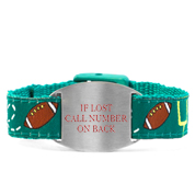 Football Safety Bracelet Fits 4 - 8 In Wrists